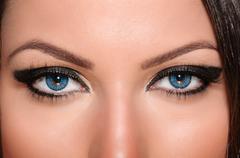 Eye contact - stock photo