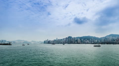 The ships sail freely on the sea in Hong Kong,China Stock Footage