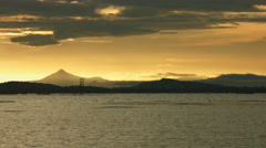 Golden Sunset over Lake Stock Footage