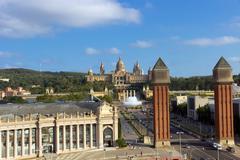 National Museum of Catalonia Stock Photos