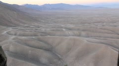 Aerial view of desert from helicopter Stock Footage