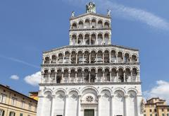 Church of San Miguel in Lucca.  San Michele in Foro Stock Photos
