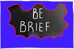 Be brief concept Stock Photos