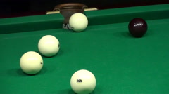 Billiards Shot Ball in the Pocket Stock Footage