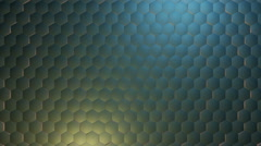 Shine metal hexagonal Stock Footage