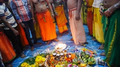 4k Ultra HD time lapse video of devotees gathering for prayers on Thaipusam day Stock Footage