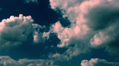 Light And Dark Blue Clouds - stock footage