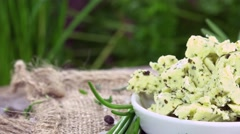 Portion of Herb Butter (not loopable) Stock Footage