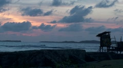 Timelapse of coast at sunset/sunrise Stock Footage