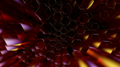 Hexagonal tube dance Stock Footage