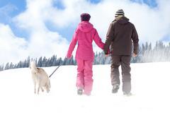Walking in winter Kuvituskuvat
