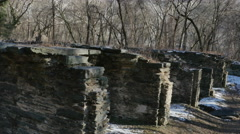 2970 Shenandoah Canal Lower Lock Ruins of Pulp Factory, 4K Stock Footage
