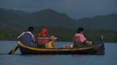POV of people using boat for transportation Stock Footage