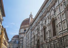 Duomo Santa Maria Del Fiore and Campanile. Dome of Santa Maria cathedral Stock Photos