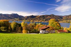Indian Summer on the Lake Tegernsee Stock Photos
