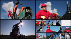 Crude Oil Production Stock Footage
