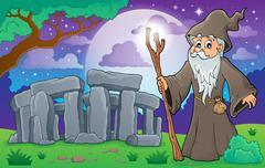 Druid theme image 3 - stock illustration