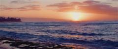 Hawaiian Beach Sunset 1   Anamorphic - stock footage
