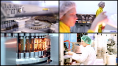 Pharmaceutical Manufacturing - stock footage