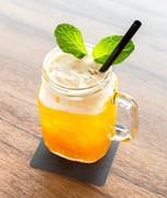 Ice Passionfruit tea Stock Photos