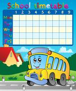 School timetable composition 9 - stock illustration
