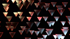 Red triagonal pieces Stock Footage
