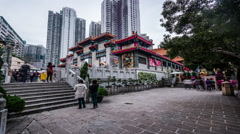 The famous Wong Tai Sin Temple in Hong Kong,China Stock Footage