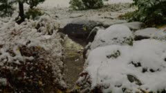 Creek with snow during winter, Ashland Stock Footage