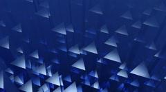 Blue triagonal edge Stock Footage