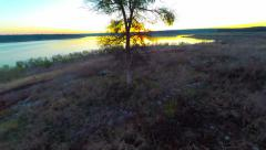 shoreline close up toward the sunset - stock footage