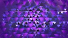Purple triagonal optic Stock Footage