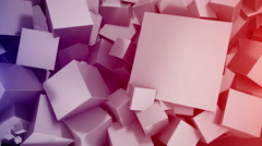 Cubes Background with space for text. Seamless loop. - stock footage
