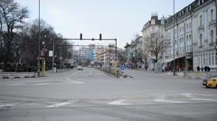 Varna. Bulgaria. Street Vladislav Varnenchik Stock Footage