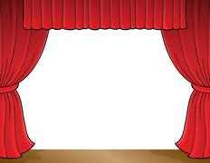 Stage theme image 1 - stock illustration