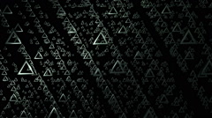 Flying triangle ring Stock Footage