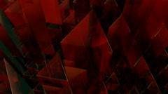 Glass triagonal tube Stock Footage