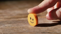 2989 Child Holding Smiley Face Eraser, 4K - stock footage