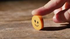 2989 Child Holding Smiley Face Eraser, 4K Stock Footage