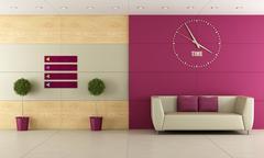 Waiting room - stock illustration