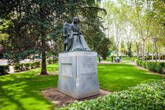 Statue of poet Sister Juana Ines de la Cruz dedicated by Mexico to Madrid - stock photo