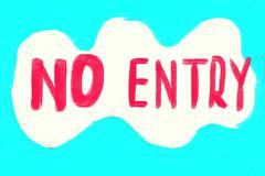 no entry concept - stock photo