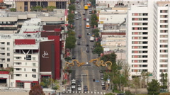 Time Lapse View of Traffic in Chinatown Downtown Los Angeles California Stock Footage