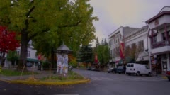 View of building in downtown, Ashland Stock Footage