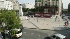 Aerial view of the architecture and street life in Belgrade. - stock footage