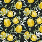 Lemon pattern - stock illustration