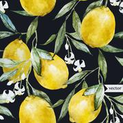 Lemon pattern - stock illustration