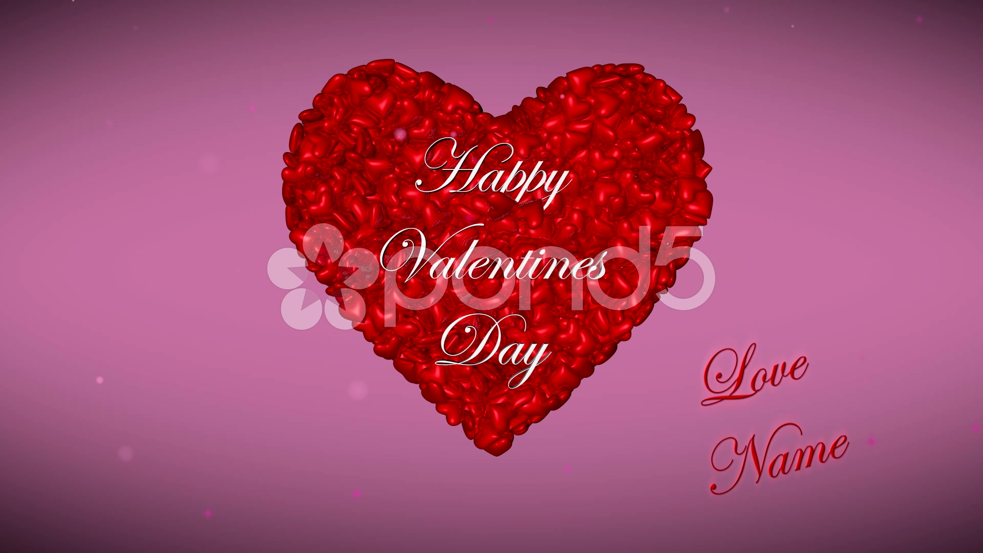 After Effects Project - Pond5 Happy valentines animation hearts 46746585