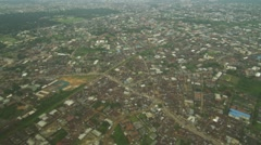 Helicopter shots of buildings in Port Harcourt Stock Footage