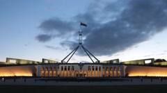 Canberra Parliament House - stock footage