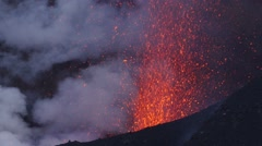 Eruption of volcano Fogo Stock Footage